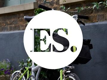 folding bike evening standard logo